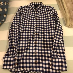 Jcrew Navy and White Checked Flannel 2